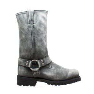 "Men's 13"" Stonewash Harness Black - 1442-SBK - Shop Genuine Leather men & women's boots online 