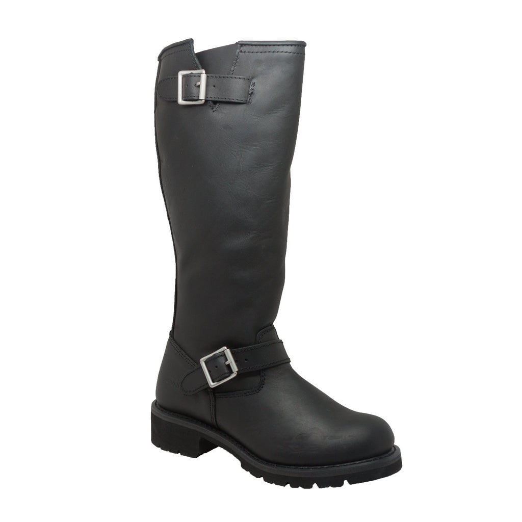 "1443 Men's 16"" Black Engineer Biker Boot"
