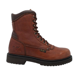 "Men's 8"" Brown Work Boot - 1623 - Shop Genuine Leather men & women's boots online 