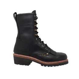 "Men's 10"" Black Fireman Logger - 1964 - Shop Genuine Leather men & women's boots online 