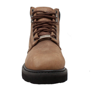 "Men's 6"" Brown Steel Toe Work Boot - 1981 - Shop Genuine Leather men & women's boots online 