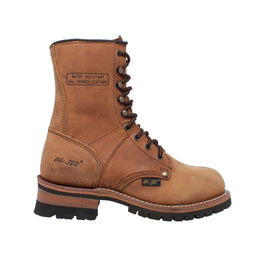 "Women's Brown 9"" Logger - 2427 - Shop Genuine Leather men & women's boots online 