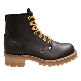"Women 6"" Logger, Black- 2439L - Shop Genuine Leather men & women's boots online 