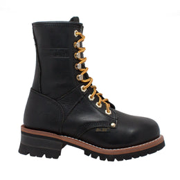 "Women's 9"" Logger Black - 2439 - Shop Genuine Leather men & women's boots online 