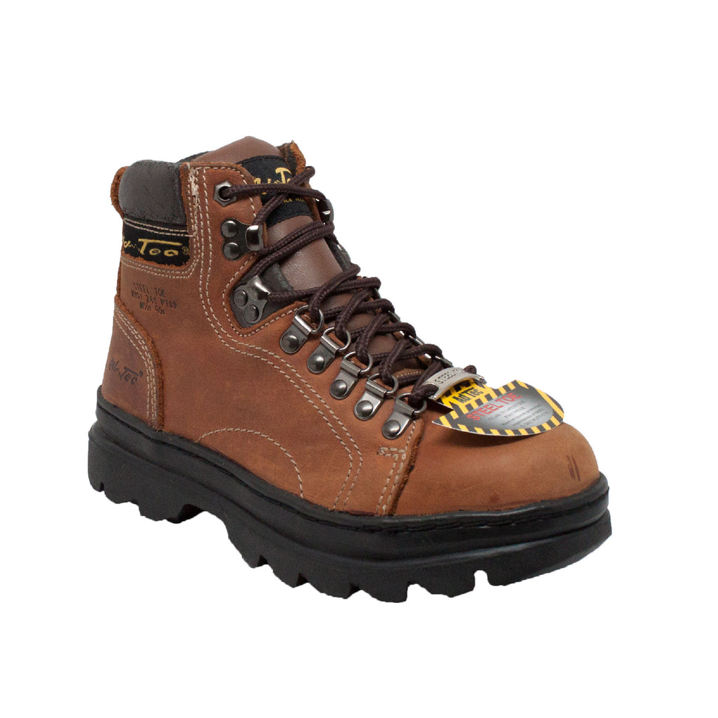 "2977 Women's 6"" Steel Toe Work Boot Brown"