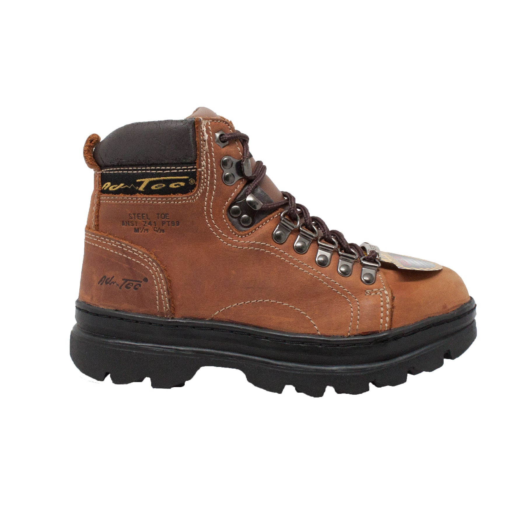 "Women's 6"" Steel Toe Work Boot Brown - 2977 - Shop Genuine Leather men & women's boots online 