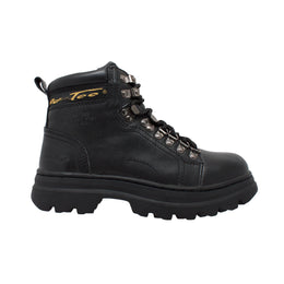 "Women's 6"" Steel Toe Work Boot Black - 2980 - Shop Genuine Leather men & women's boots online 