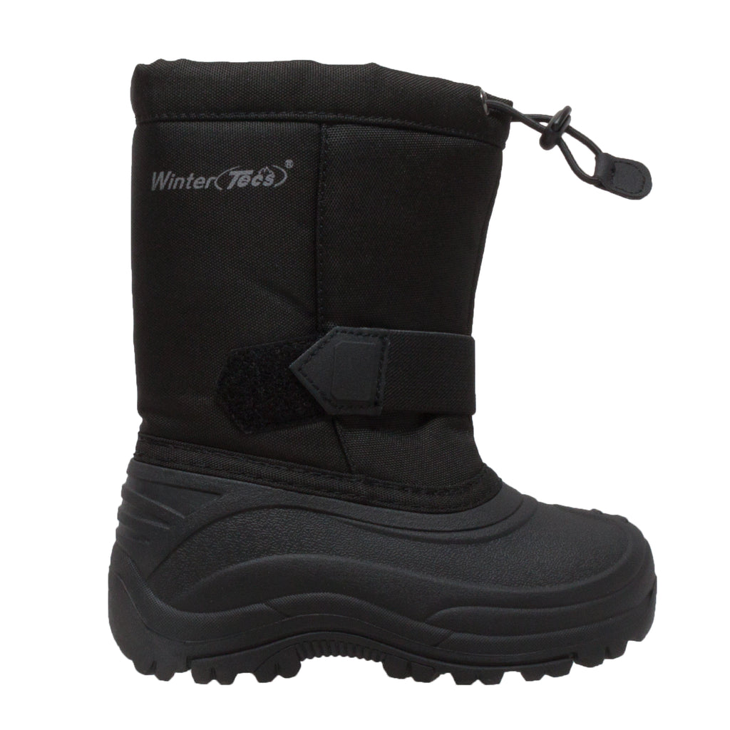 Girl's Nylon Winter Boots Black - 6821-BK - Shop Genuine Leather men & women's boots online | AdTecFootWear
