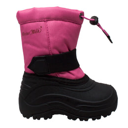 Girl's Nylon Winter Boots Pink- 6821-PK - Shop Genuine Leather men & women's boots online | AdTecFootWear