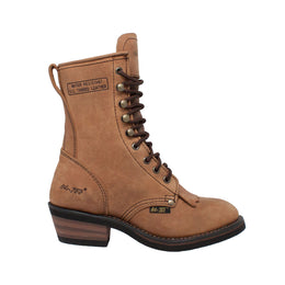 "Women's 8"" Packer Tan - 8224 - Shop Genuine Leather men & women's boots online 