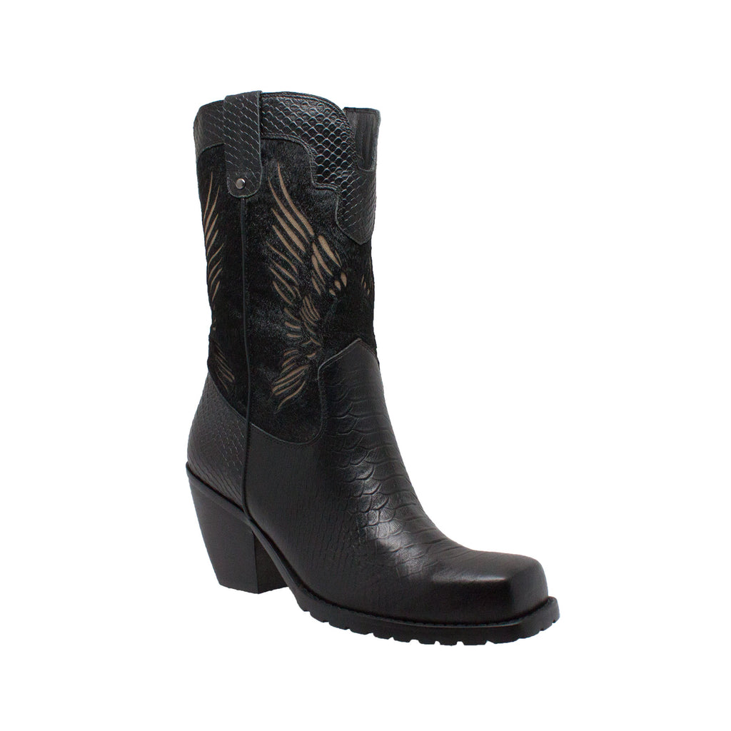 "8547 Women's 11"" Laser Eagle Boot Black"