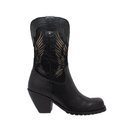 "Women's 11"" Laser Eagle Boot Black - 8547 - Shop Genuine Leather men & women's boots online 