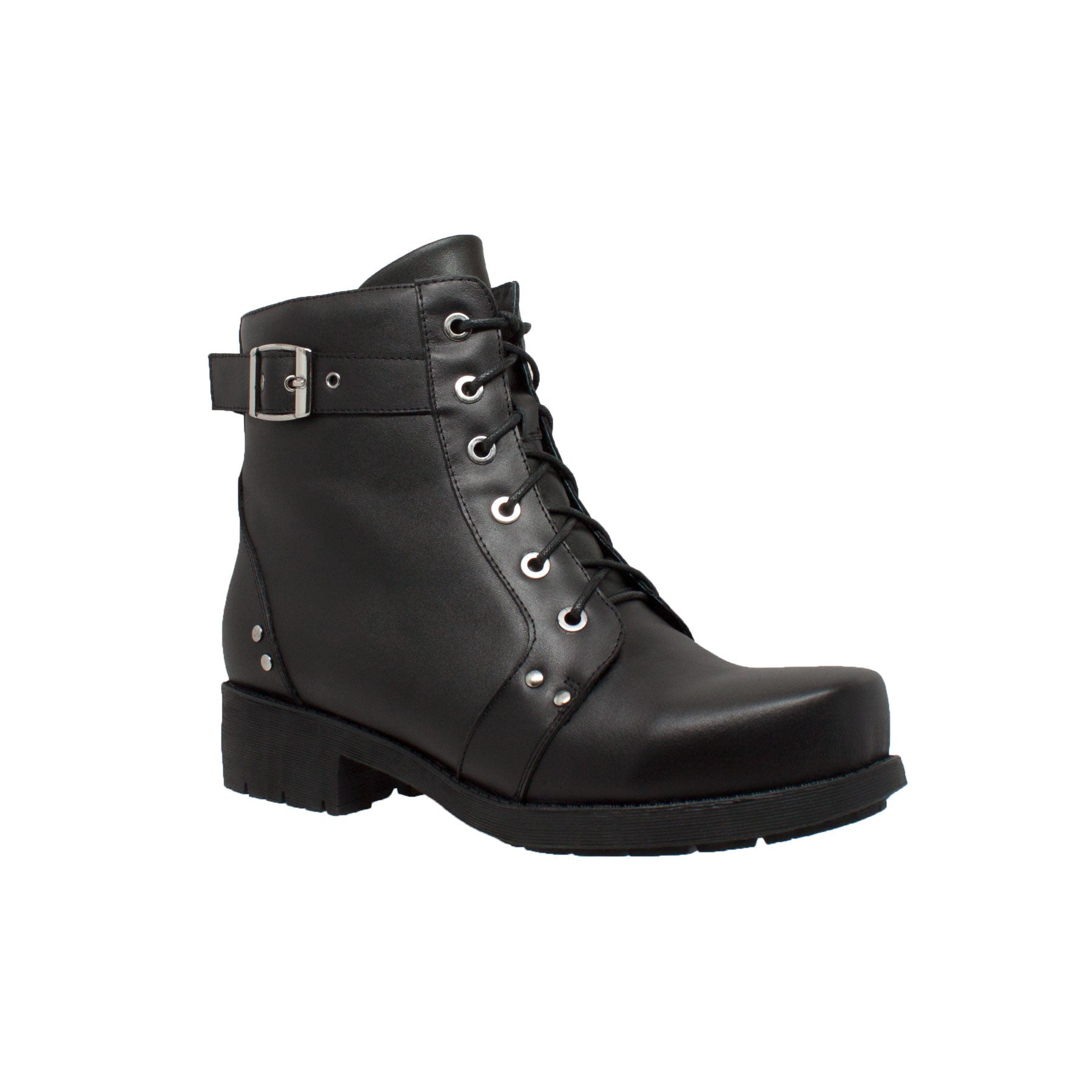 "Women's 7"" Biker Boot Black - 8647 - Shop Genuine Leather men & women's boots online 