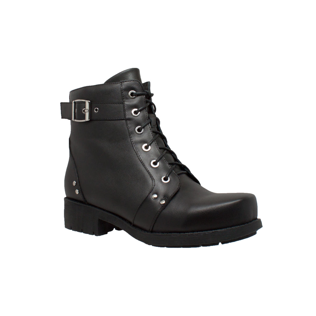 "8647 Women's 7"" Biker Boot Black"