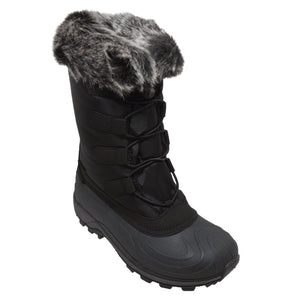 Women's Nylon Winter Boots Black - 8780-BK - Shop Genuine Leather men & women's boots online | AdTecFootWear