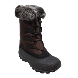 Women's Nylon Winter Boots Brown - 8780-BR - Shop Genuine Leather men & women's boots online | AdTecFootWear