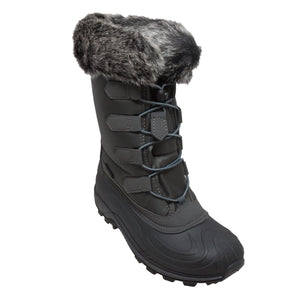 Women's Nylon Winter Boots Grey - 8780-GR - Shop Genuine Leather men & women's boots online | AdTecFootWear