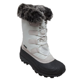 Women's Nylon Winter Boots White - 8780-WT - Shop Genuine Leather men & women's boots online | AdTecFootWear