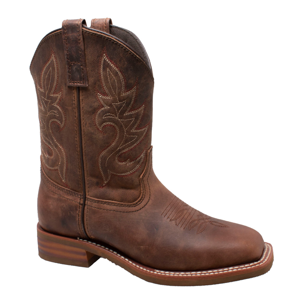 "Women 10"" Brown Western Square Toe  Boots - 8876 - Shop Genuine Leather men & women's boots online 