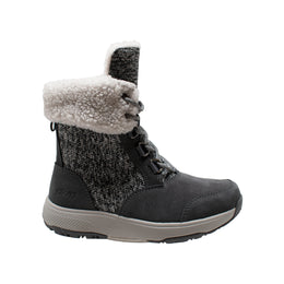 Women's Grey Microfleece Lace Winter Boot - Shop Genuine Leather men & women's boots online | AdTecFootWear