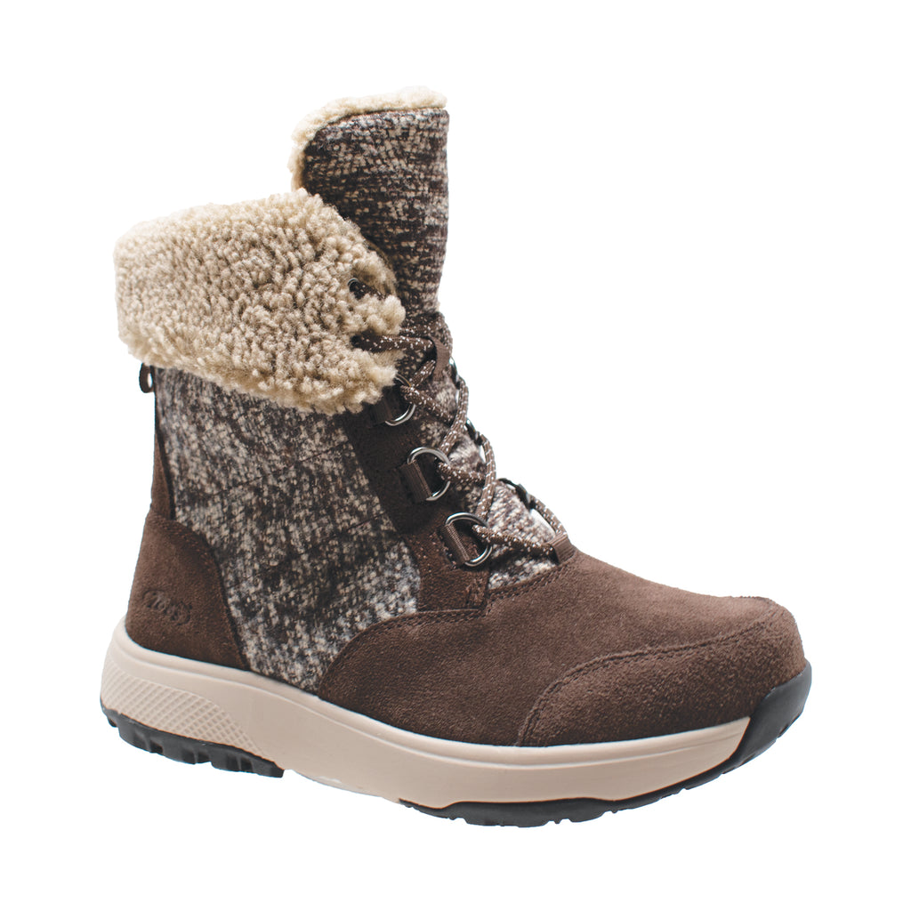 Women's Brown Microfleece Lace Winter Boot - Shop Genuine Leather men & women's boots online | AdTecFootWear