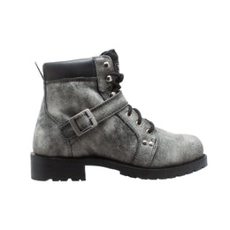 "Men's 6"" Stonewash Zipper Lace Boot Black - 9143-SBK - Shop Genuine Leather men & women's boots online 