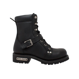 "Men's 8"" Zipper Lace Black - 9146 - Shop Genuine Leather men & women's boots online 