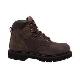 "Men's 6"" Steel Toe Work Boot Brown - 9328 - Shop Genuine Leather men & women's boots online 