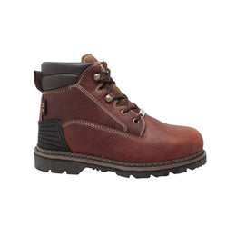 "Men's 6"" Steel Toe Work Boot Brown - 9400 - Shop Genuine Leather men & women's boots online 