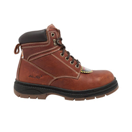 "Men's 6"" Steel Toe Work Boot Brown - 9426 - Shop Genuine Leather men & women's boots online 
