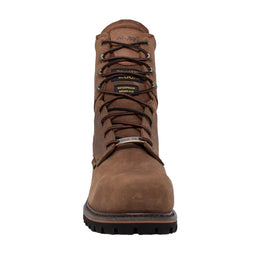 "Men's 9"" Steel Toe Super Logger Brown - 9490 - Shop Genuine Leather men & women's boots online 