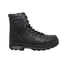 "Men's 6"" Reflective Biker Black - 9618 - Shop Genuine Leather men & women's boots online 