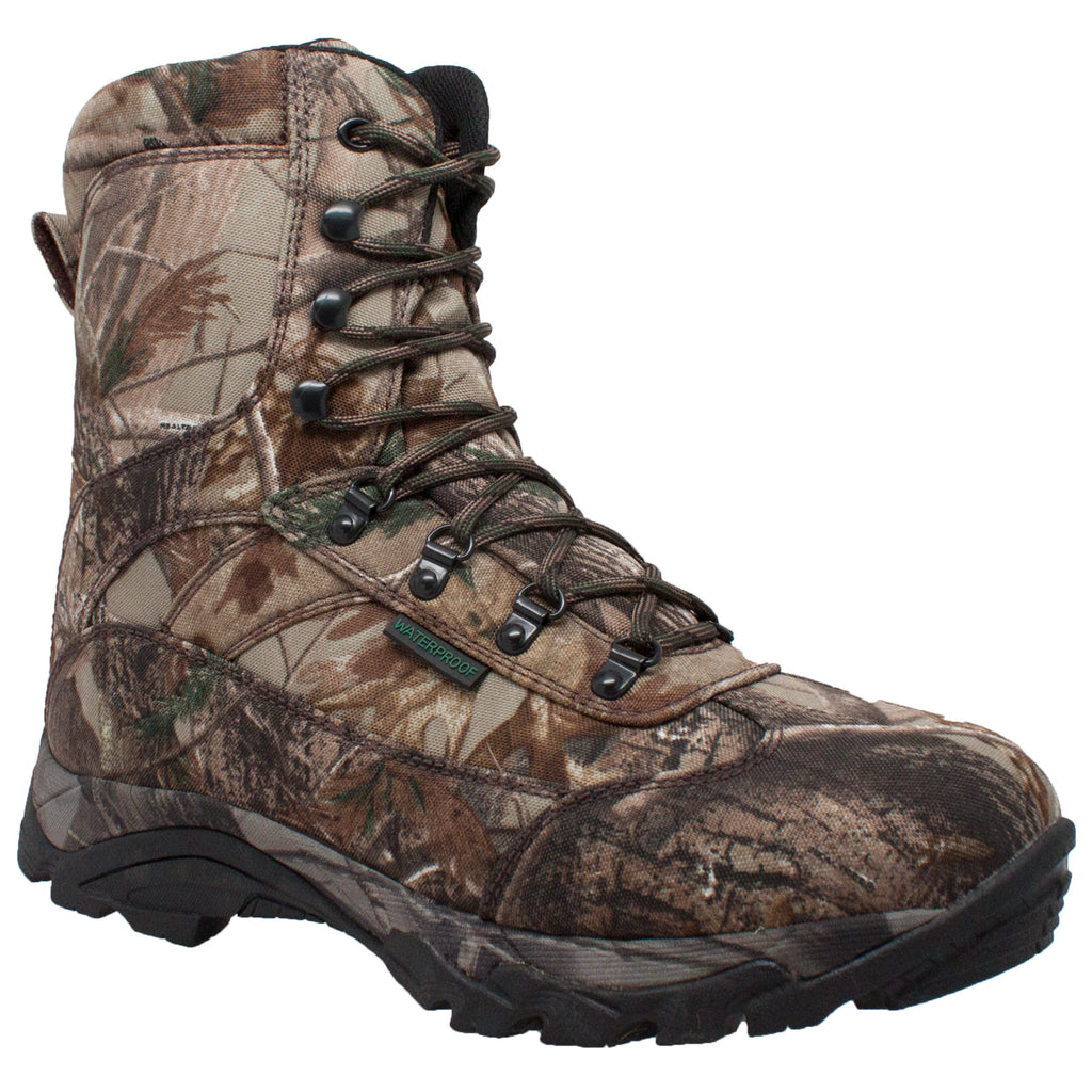 "9638 Men's 800g 10"" Real Tree Tan Camo Waterproof Hunting Boot"