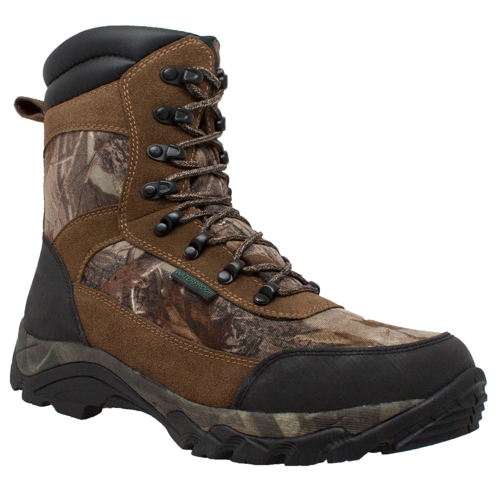 "9639 Men's 400g 10"" Real Tree Brown Camo Waterproof Hunting Boot"