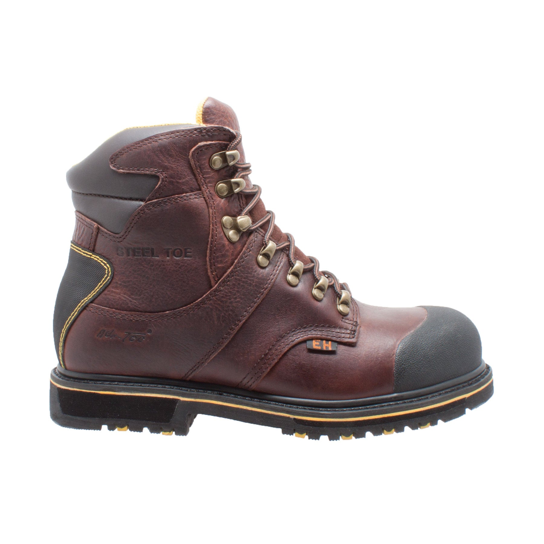 "Men's 6"" Steel Toe Waterproof Work Boot Dark Brown - 9722 - Shop Genuine Leather men & women's boots online 