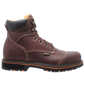 "Men's 6"" Comfort Work Boot Dark Brown - 9723 - Shop Genuine Leather men & women's boots online 