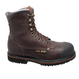 "Men's 8"" Steel Toe Work Boot Dark Brown - 9725 - Shop Genuine Leather men & women's boots online 