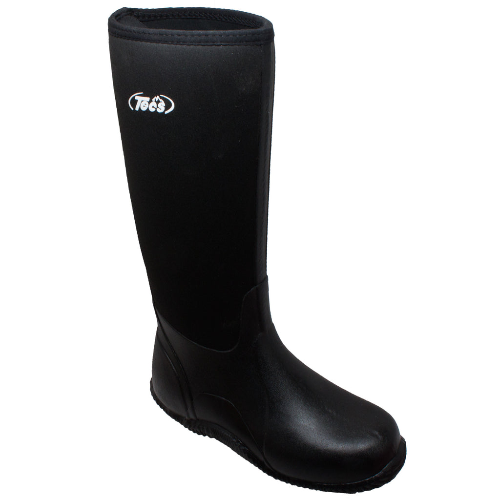 "9736 Men's 16"" Rubber Boot Black"