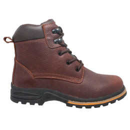 "Men's 6"" Brown Work Boot - 9800 - Shop Genuine Leather men & women's boots online 