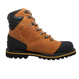 "Men's 7"" Steel Toe Work Boot Light Brown - 9804 - Shop Genuine Leather men & women's boots online 