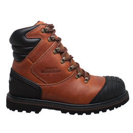 "Men's 7"" Steel Toe Work Boot Reddish Brown - 9805 - Shop Genuine Leather men & women's boots online 