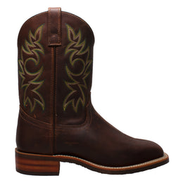 "Men's 11"" Work Western Square Toe Brown - 9829 - Shop Genuine Leather men & women's boots online 