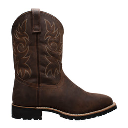 "Men's 12"" Steel Toe Work Western Brown - 9858 - Shop Genuine Leather men & women's boots online 