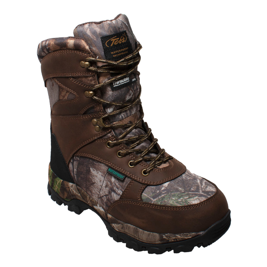 "9871 Men's 1000g 10"" Brown Camo Hunting Boot"