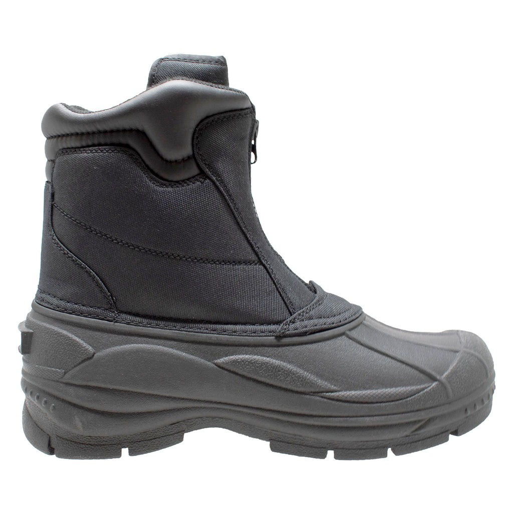 Mens Black Nylon Zipper Winter Boots - Shop Genuine Leather men & women's boots online | AdTecFootWear