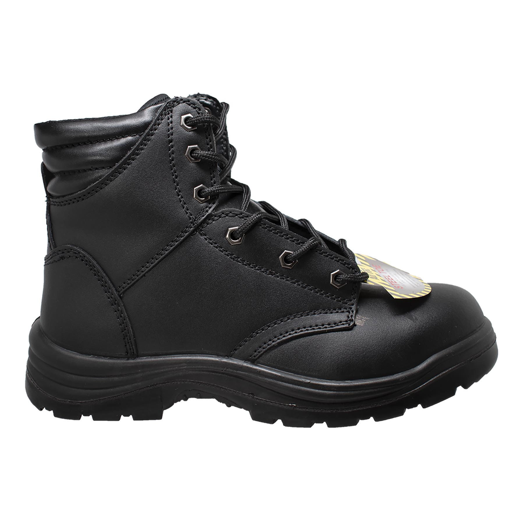 "Men's 6"" Black Steel Toe Work Boots - Shop Genuine Leather men & women's boots online 