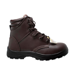 "Men's 6"" Brown Steel Toe Work Boots - 9895 - Shop Genuine Leather men & women's boots online 