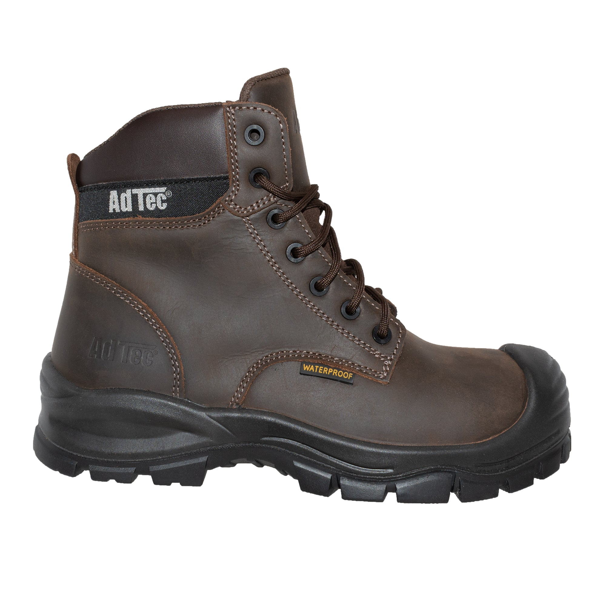 "Men 6"" Brown Waterproof Composite Toe Work Boot - 9900-BR - Shop Genuine Leather men & women's boots online 