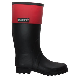 Women's Rubber Rider Boot with Red Cuff Black - CI-2002 - Shop Genuine Leather men & women's boots online | AdTecFootWear