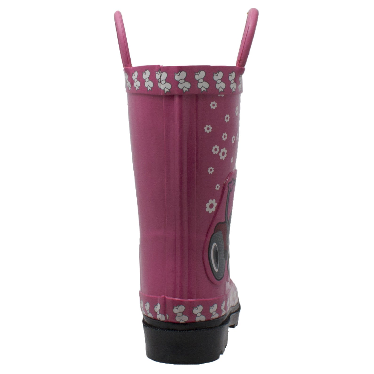 "Children's 3D ""Fern Farmall"" Rubber Boot Pink - CI-4004 - Shop Genuine Leather men & women's boots online 